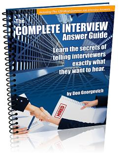 interview answers job interview questions